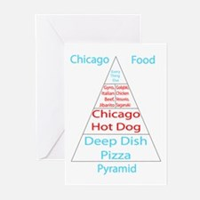 Chicago Food Pyramid Greeting Cards (Pk of 10)