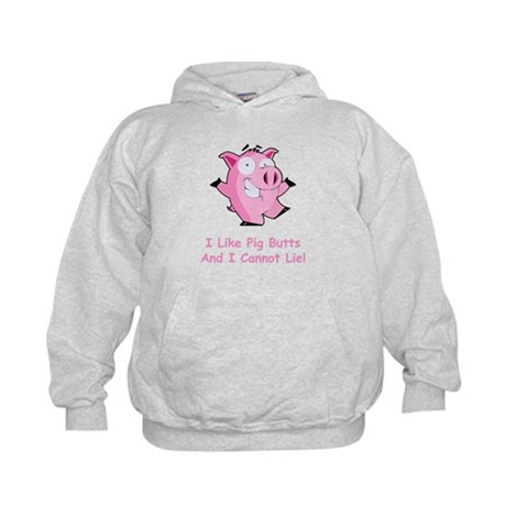 I Like Pig Butts Kids Hoodie