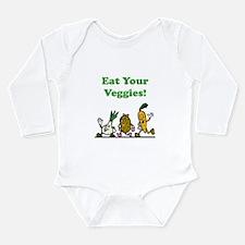 Eat Your Veggies Long Sleeve Infant Bodysuit