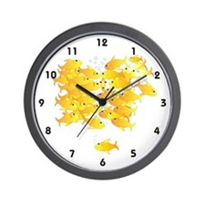 Gold Fish Rush Wall Clock