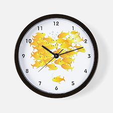 Gold Fish Rush Wall Clock