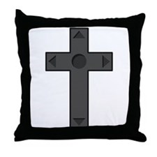 D-Pad Cross Throw Pillow