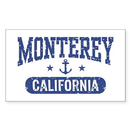 Monterey California Sticker (Rectangle)