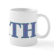 Faith Blue Glass Mug