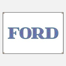 Ford Blue Glass Banner