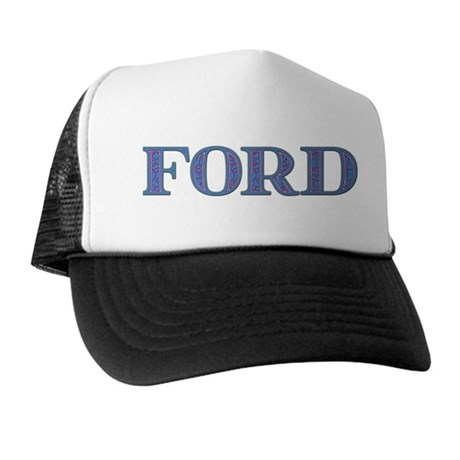 Ford Blue Glass Trucker Hat