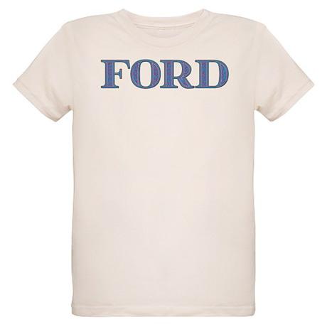 Ford Blue Glass Organic Kids T-Shirt