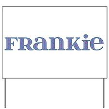 Frankie Blue Glass Yard Sign