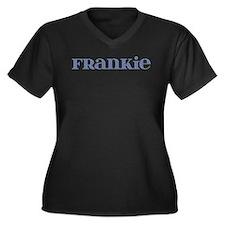 Frankie Blue Glass Women's Plus Size V-Neck Dark T