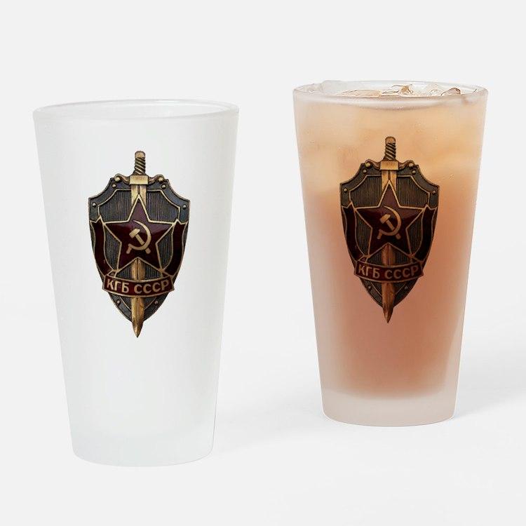 KGB Drinking Glass