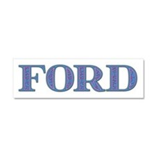 Ford Blue Glass 10x3 Car Magnet