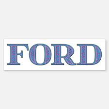 Ford Blue Glass Bumper Bumper Bumper Sticker