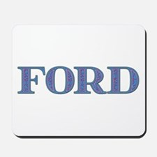 Ford Blue Glass Mousepad