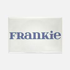 Frankie Blue Glass Rectangle Magnet