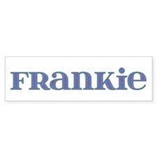 Frankie Blue Glass Bumper Bumper Sticker