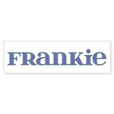 Frankie Blue Glass Bumper Car Sticker