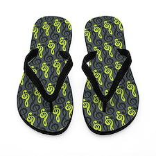 Treble Clef Flip Flops