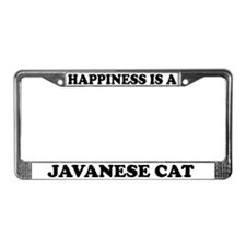Happiness Is A Javanese Cat License Plate Frame