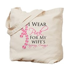 Wife - Breat Cancer Tote Bag