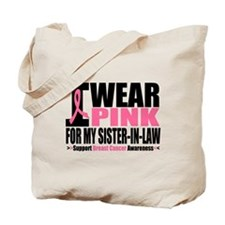 I Wear Pink Sister-in-Law Tote Bag