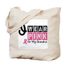 I Wear Pink Ribbon Tote Bag