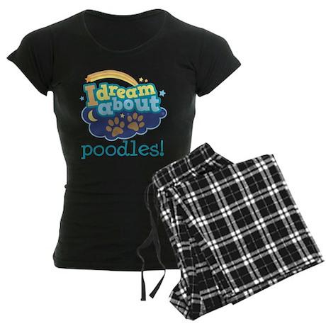 Poodle Lover Gift Women's Dark Pajamas