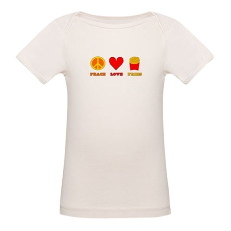 Peace Love Fries Organic Baby T-Shirt