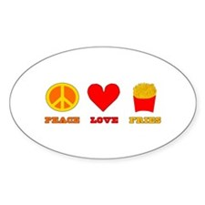 Peace Love Fries Decal