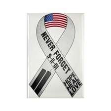 September 11 Ribbon Rectangle Magnet
