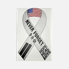 September 11 Ribbon Rectangle Magnet