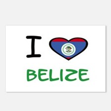 Cute Flag belize Postcards (Package of 8)