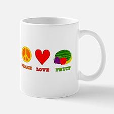 Peace Love Fruit Mug