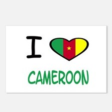 Cute Cameroon flag Postcards (Package of 8)