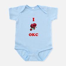 I Love OKC Infant Bodysuit