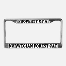 Property Norwegian Forest Cat License Plate Frame