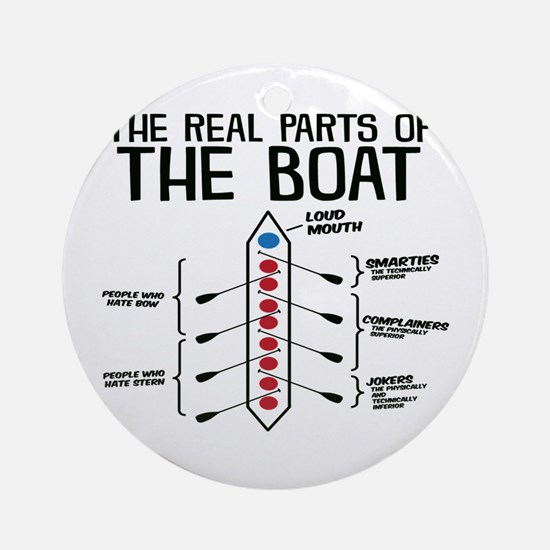 The Real Parts Of The Boat Round Ornament
