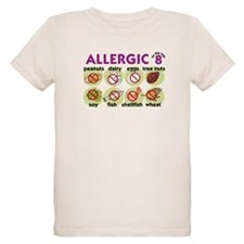 Allergic to Top 8 (2) T-Shirt