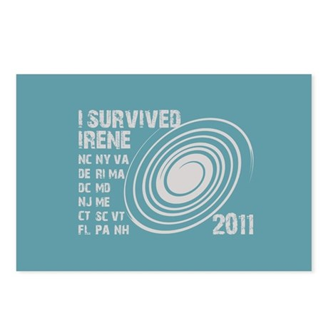 I Survived Irene 2011 Postcards (Package of 8)