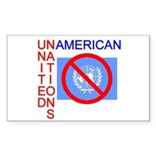 UN American Rectangle Decal