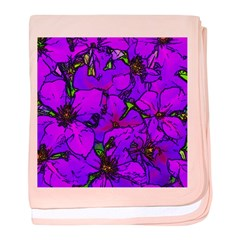 Purple Clematis Flower baby blanket