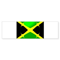 Jamaican Flag With Bubble Bumper Sticker