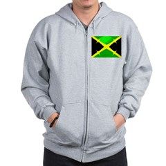 Jamaican Flag With Bubble Zip Hoodie
