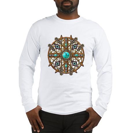Beads and Arrows Mandala Long Sleeve T-Shirt
