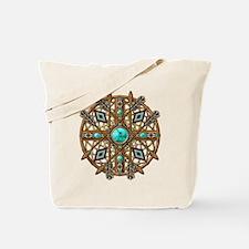 Beads and Arrows Mandala Tote Bag