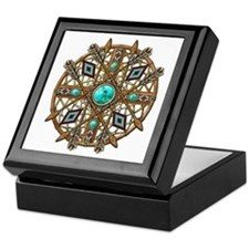 Beads and Arrows Mandala Keepsake Box