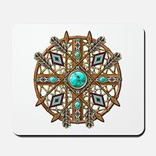 Beads and Arrows Mandala Mousepad