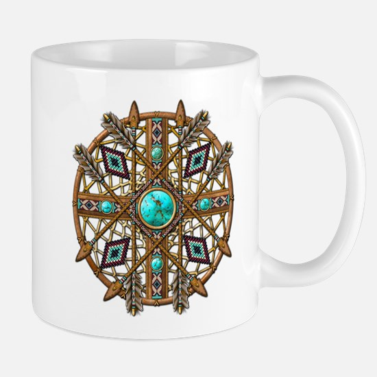 Beads and Arrows Mandala Mug