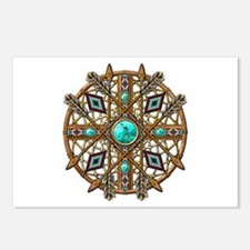Beads and Arrows Mandala Postcards (Package of 8)
