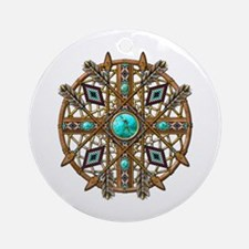 Beads and Arrows Mandala Ornament (Round)