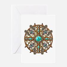 Beads and Arrows Mandala Greeting Card